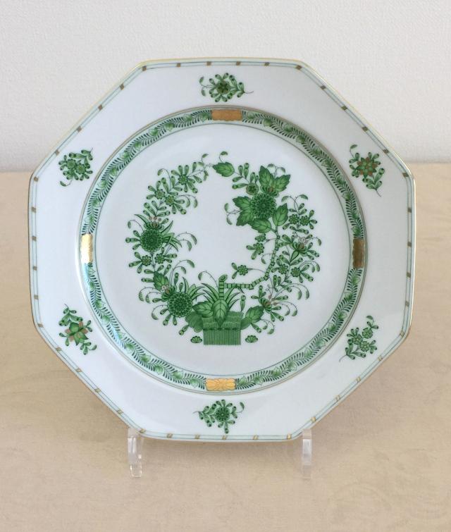ヘレンド  FV 04325-0-00 インドの華 八角ディナー皿 約22.5cm
