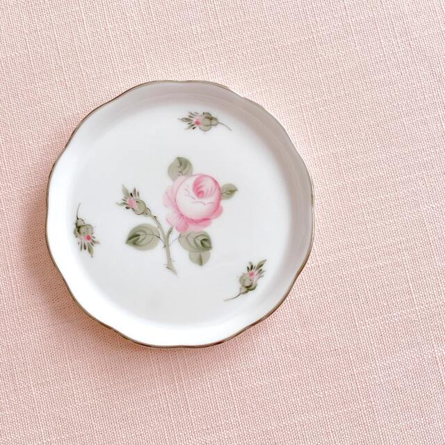 ヘレンド Herend ウィーンの薔薇プラチナ プチプレート 10cm