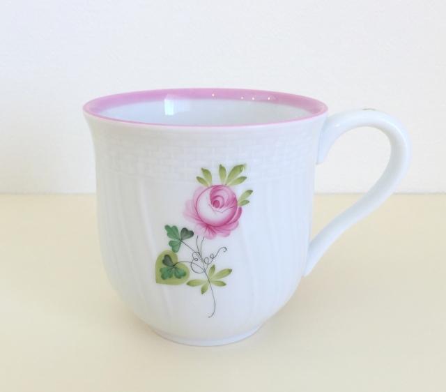 ☆ラスト1点☆ ヘレンド VRH-X4 01739-0-00 ウィーンの薔薇ピンクミッドマグ 約200ml