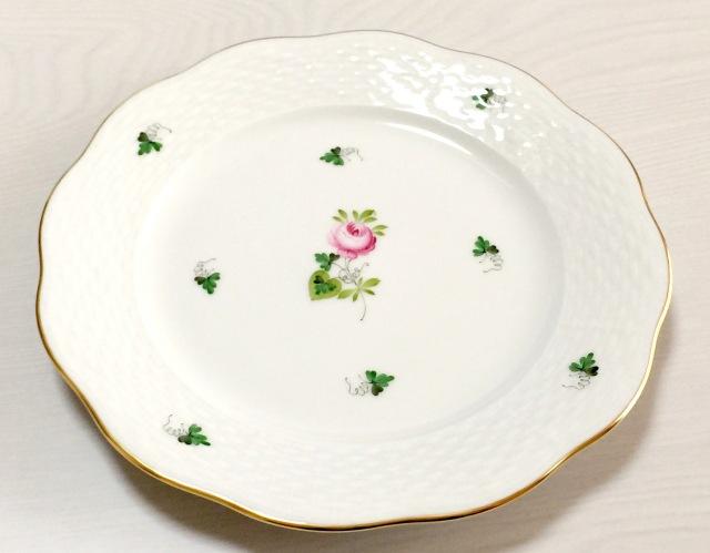 ☆レア☆ヘレンド VRHS 00517-0-00 ウィーンの薔薇シンプルゴールド デザートプレート19cm