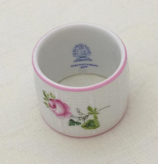 ☆ラスト1点☆ヘレンド VRH-X4 00272-0-00 ウィーンの薔薇ピンク ナプキンリング