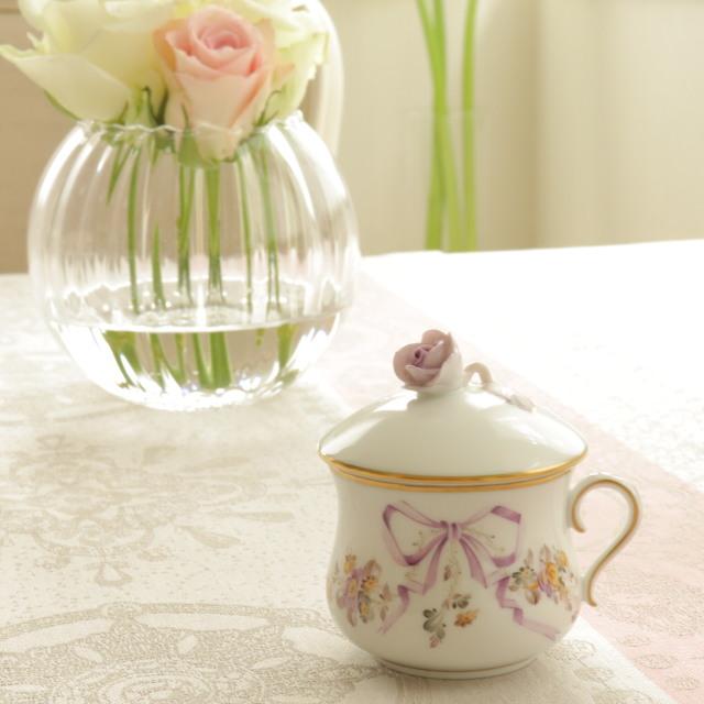 ヘレンド  EDEN 02385 エデン クリームカップ 薔薇トップ