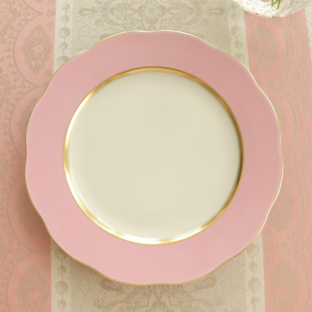 ☆御会員様専用価格☆ シルクリボン チャージャープレート ピンク (*写真一番下のチャージャープレートのみ。他の商品は別売です。)
