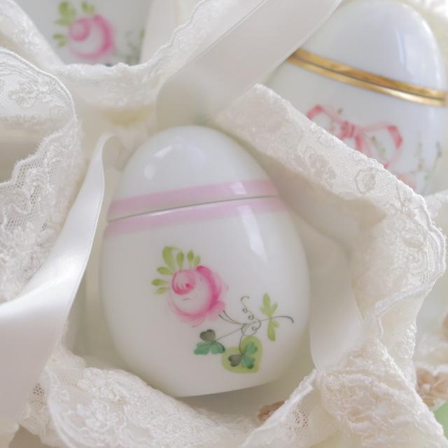 ☆御会員様専用☆再入荷☆Herend VRH-X4 ウィーンの薔薇ピンク エッグボンボニエール☆ギフトボックス付き☆(*ウィーンの薔薇ピンクの1点のみのご案内です。)