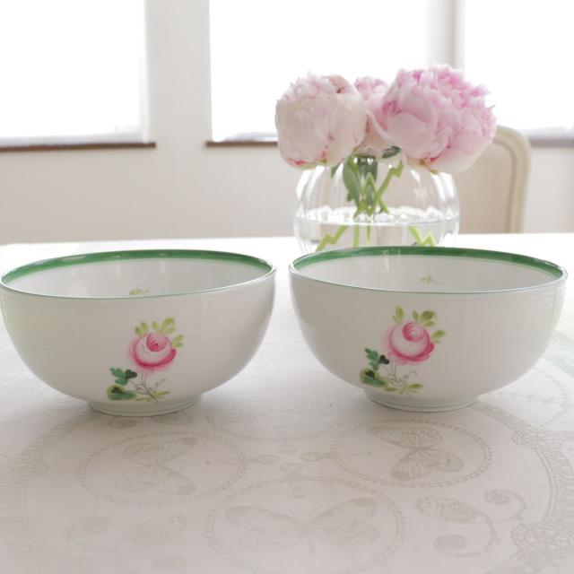 ラスト2セット【御会員様専用】Everyday The Luxe スペシャルセット:Herend ヘレンド ウィーンの薔薇 ボウル2点セット