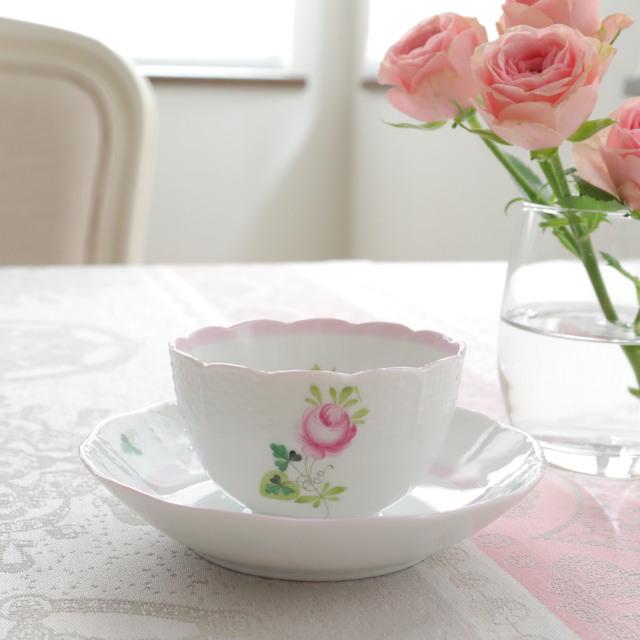 ☆再入荷☆ヘレンド VRH-X4 00708-1-00/00710-2-91 ウィーンの薔薇ピンク オリエンタル風ティーボウル