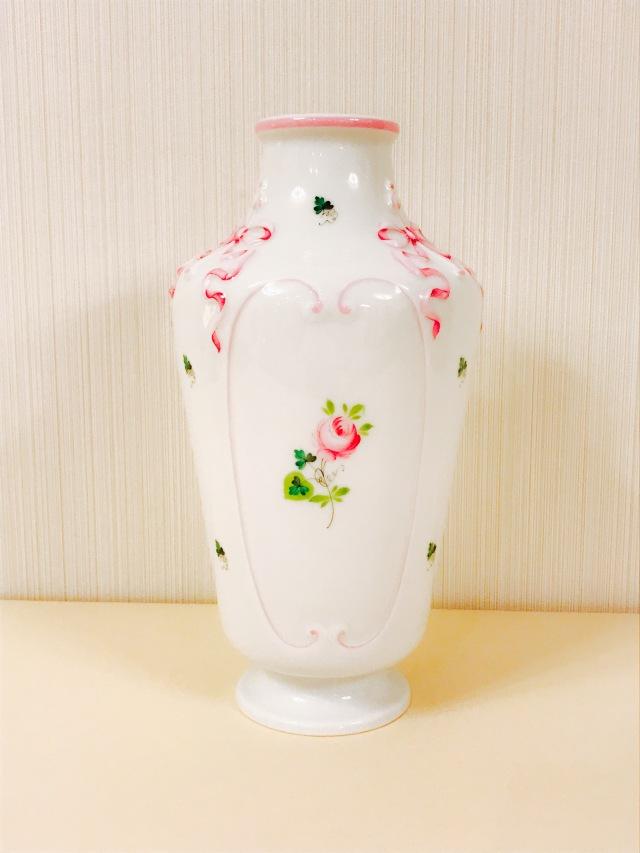 ☆お取り寄せ品☆納期3ヶ月前後☆ヘレンド  VRH-X4 06603-0-00 ウィーンの薔薇ピンク フラワーベース