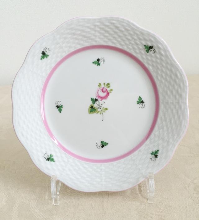 ☆再入荷☆ヘレンド VRH-X4 00517-0-00 ウィーンの薔薇ピンク デザートプレート