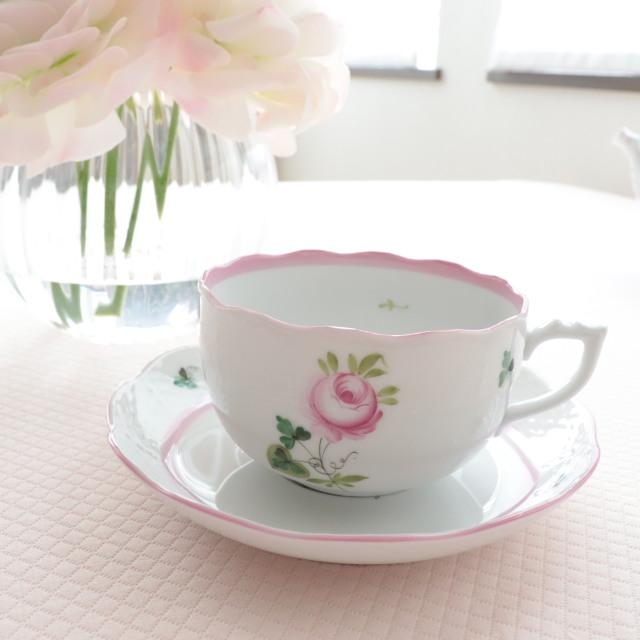 ヘレンド VRH-X4 00724-0-00 ウィーンの薔薇ピンク カップ&ソーサー