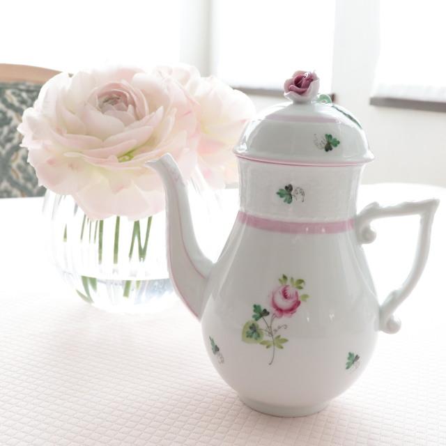 ☆即納品☆ヘレンド VRH-X4 ウィーンの薔薇ピンク コーヒーポット 450cc 淡めのお色