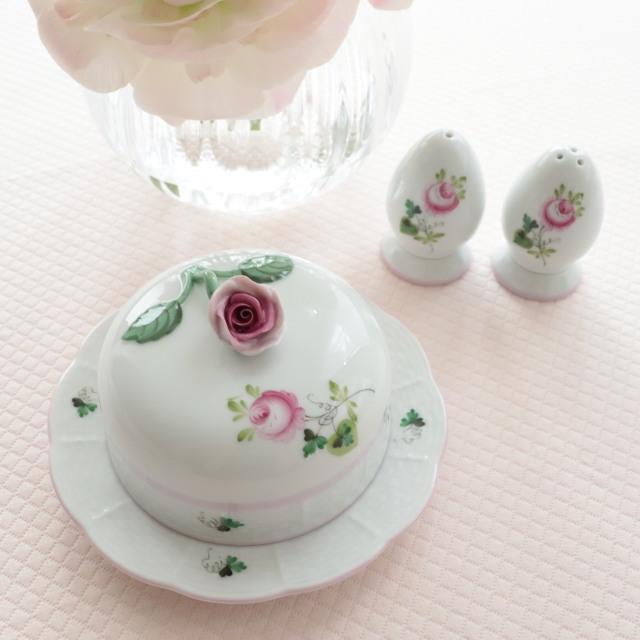 ☆再入荷☆ヘレンド VRH-X4 ウィーンの薔薇ピンク バタードーム(*薔薇の取手のバタードームのみ。他は別売です。)