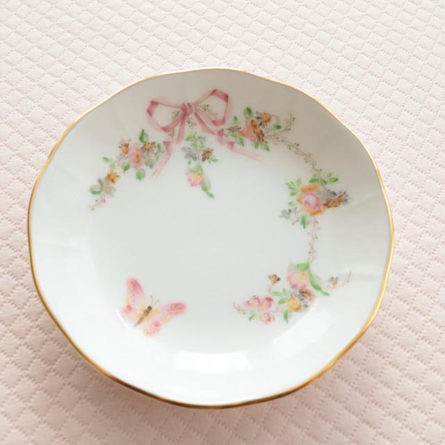 ヘレンド  Herend エデン桜ピンク プチプレート 約9.5cm (*プレートのみ。モカカップ&ソーサーは別売です。)