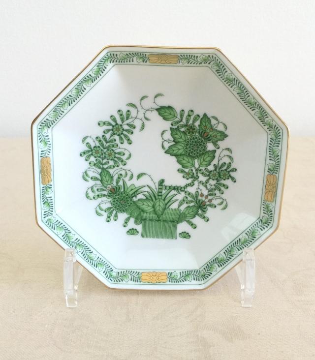 ヘレンド  FV 04304-1-00 インドの華 八角小皿 約14cm