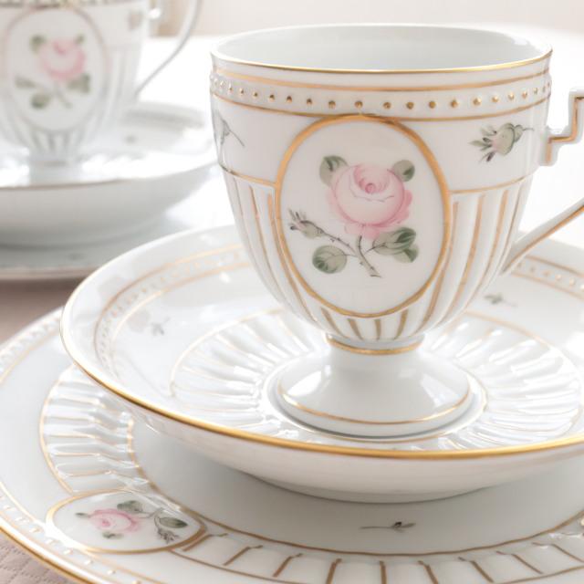 ウィーンの薔薇 淡いゴールド アンピール カップ&ソーサー(単品)*カップ&ソーサーのみのご案内です。その他は別売りです。