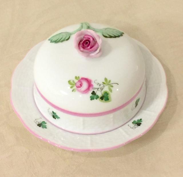 ヘレンド VRH-X4 00394-0-09 ウィーンの薔薇ピンク バタードーム(薔薇の取手)