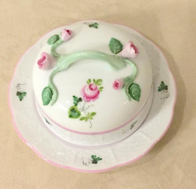 ☆再入荷☆ ヘレンド VRH-X4 00394-0-02 ウィーンの薔薇ピンク バタードーム(枝の取手)