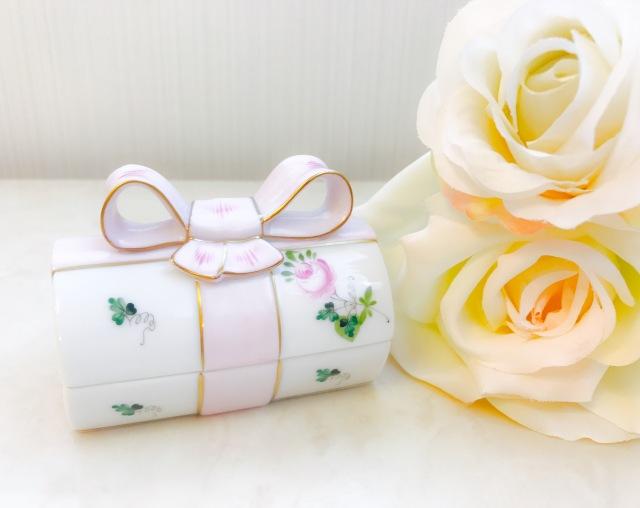 ラスト1点☆マンスリースペシャル☆ヘレンド VRHS ウィーンの薔薇シンプルゴールド おリボンBOX