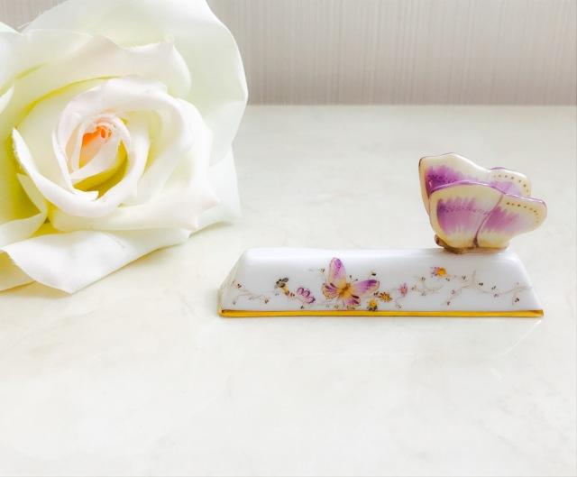 ヘレンド EDENS 02276-0-17 シンプルエデン ナイフレスト パピヨン (蝶のみ。ローズは別売りです。)