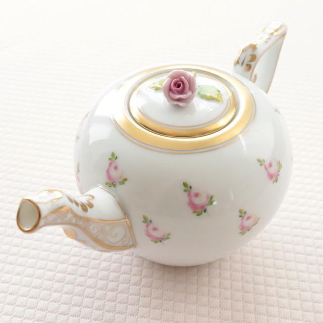【ご会員様限定】ヘレンド PTRA 朝露の小薔薇 ティーポット 約400ml