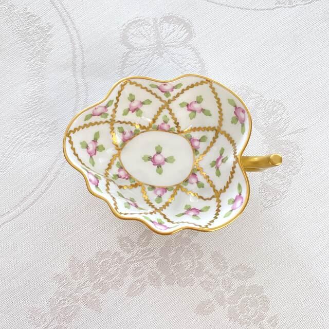 ヘレンド SPROG 02492-0-00 セーブル風小薔薇金彩 オープンシュガー