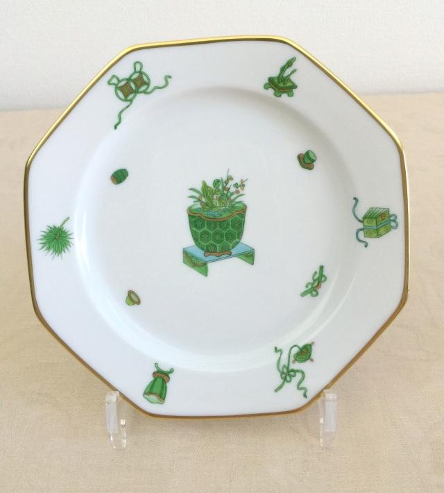 ヘレンド  TOP 04318-0-00 トプカプ 八角デザート皿 約18.5cm