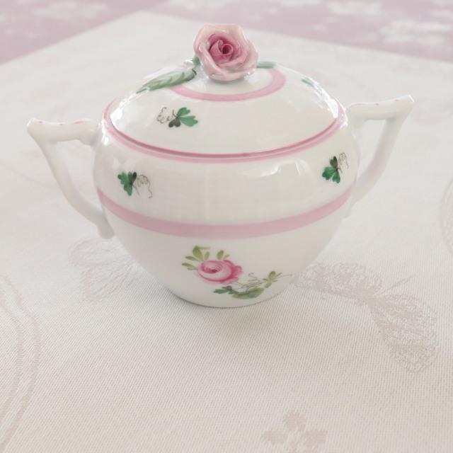 ☆再入荷☆ ヘレンド VRH-X4 00472-0-00 ウィーンの薔薇ピンク シュガーポット