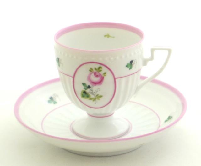 ☆ラスト2点☆ヘレンド VRH-X4 04467-0-00 ウィーンの薔薇ピンク アンピール カップ&ソーサー