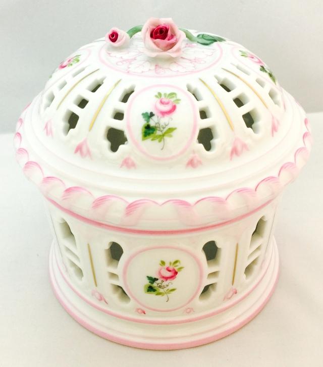 ☆再入荷☆ヘレンド VRH-X4 ウィーンの薔薇ピンク ボンボニエール・ポマンダー(S)