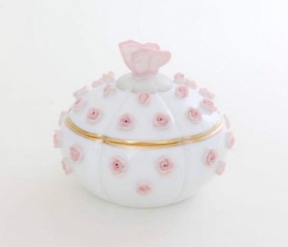 ラスト1点☆ヘレンド☆レア☆  桜ピンクのバタフライボンボン