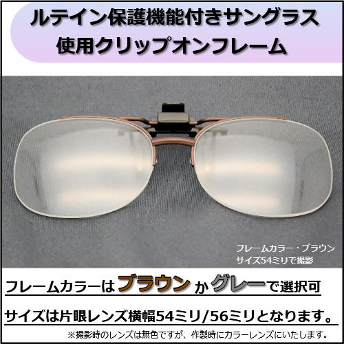 ルテイン保護機能付きサングラス・クリップオン 見本レンズ付画像