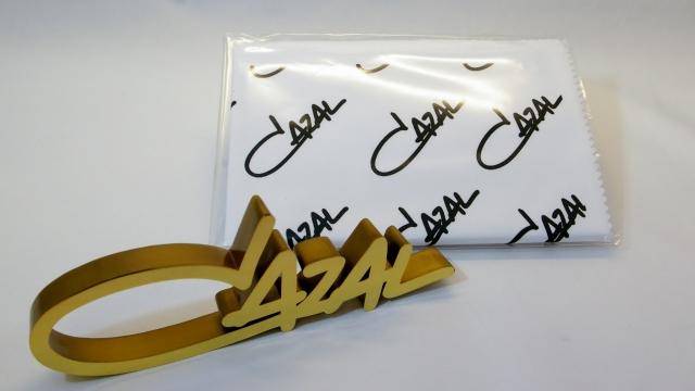 CAZAL(カザール)ロゴプレート&レンズ拭き画像