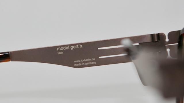 ic ! berlin  (アイシーベルリン) Gert H. カラーTeak-Magma I-107T 品番画像