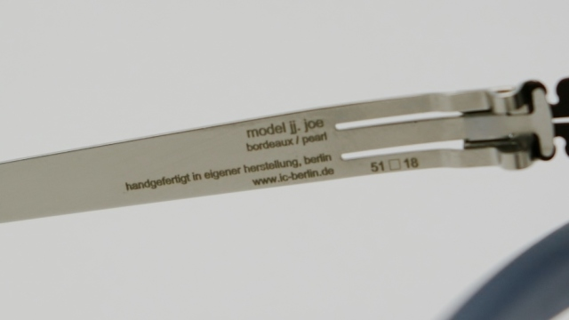 ic ! berlin  (アイシーベルリン) jj.joe カラーBordeaux/pearlアジア限定受注生産モデル I-98T 品番画像