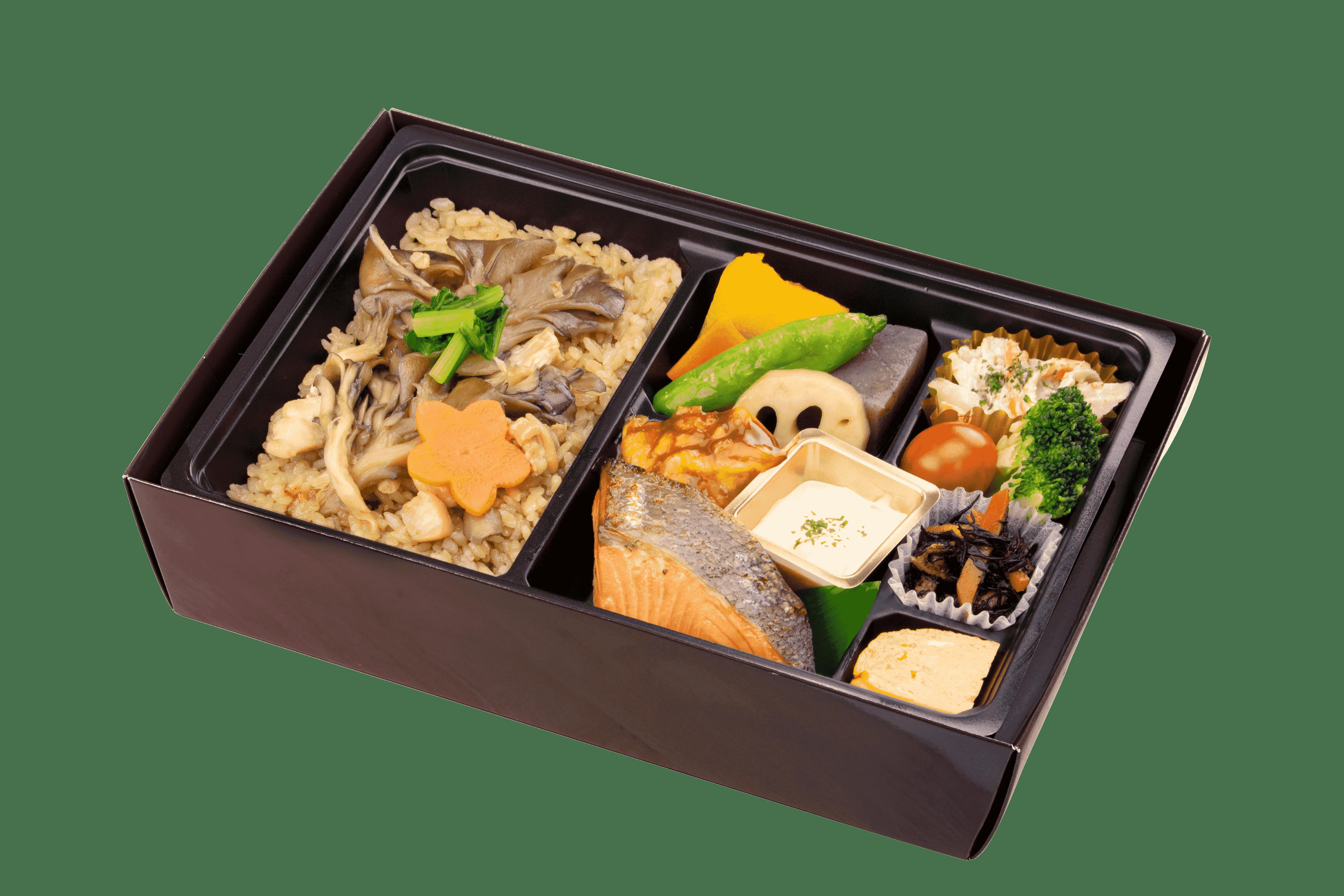 季節の炊込みご飯の幕の内弁当
