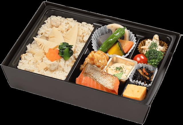 【春季限定】季節の炊込みご飯の幕の内弁当