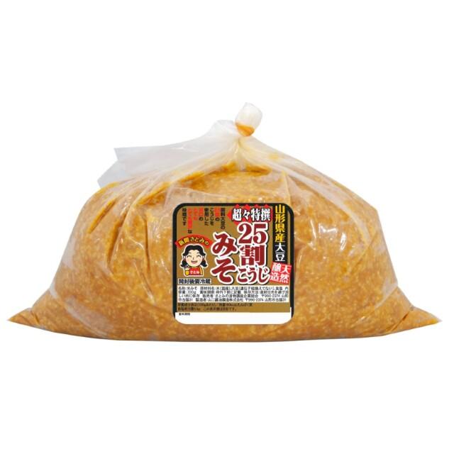 【春のキャンペーン価格】超々特撰25割こうじ味噌 4kg