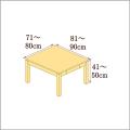 高さ41-50cm/奥行き81-90cm/横幅71-80cmの机/デスク