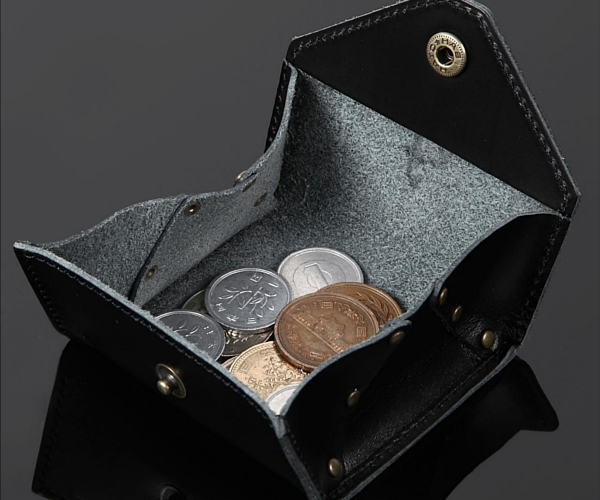 Leather Coin Case:Black/レザーコインケース:ブラック