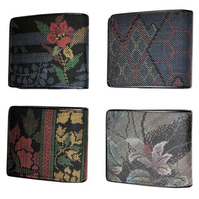 大島紬の折り財布