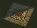 大島紬の四角型コースター