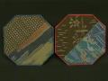 大島紬の八角型コースター