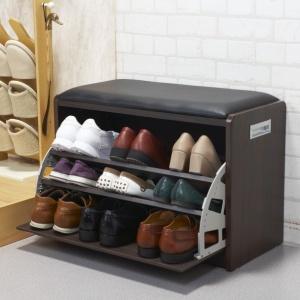 腰かけ付シューズラック Mサイズ 9足用 ベンチ式靴箱