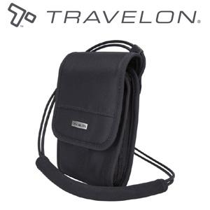 トラベロン社セーフティネックウォレット/42475/ブラック//海外旅行対応盗難防止首掛け財布