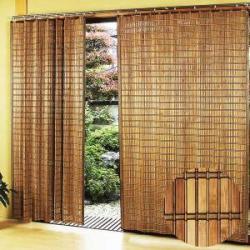 スモークドバンブーカーテン(100×135cm)/B-905S/竹すだれカーテン/燻製竹簾