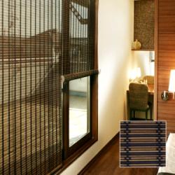 竹ロールスクリーン バンブースクリーン 角ヒゴ織り 幅88cm×高さ135cm RC-1520S 竹すだれ