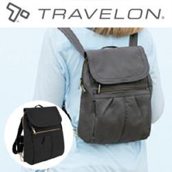 トラベロン社セーフティスリムリュック43121/海外旅行対応盗難防止リュックサック