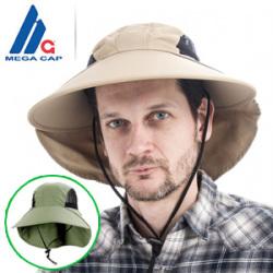 メガキャップ社サンブロック UVカットハット 紫外線対策帽子/男女兼用