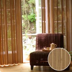 スモークドバンブーカーテン(幅100×高さ135cm)/B-907S/竹すだれカーテン/燻製竹簾