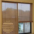 スモークドバンブーロールスクリーン(幅88×高さ180cm)RC-1270/高級すだれ/燻製竹簾