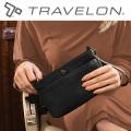 トラベロン社LTDセーフティクラッチ&ミニショルダー2WAYバッグ 43097/海外旅行対応盗難防止バッグ